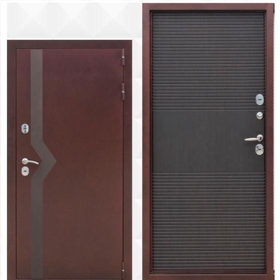 Входная дверь медный антик венге изотерма 10 см