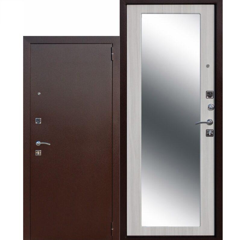 Входная дверь стекло комбинированная белая