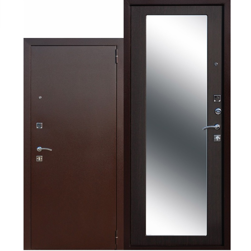 Входная дверь венге комби стекло