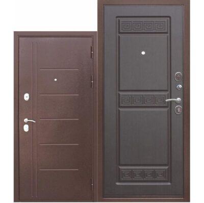 Входная дверь троя антик венге орнамент